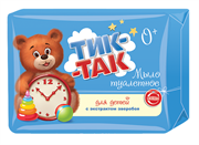 СВ-10325 Мыло для детей  ТИК-ТАК  с экстр-м зверобоя для нежной и чувств-ой кожи 0+ 150 гр