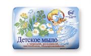 СВ-12077 Туалетное мыло  Детское  с чередой, ромашкой, чистотелом, подорожником 100гр