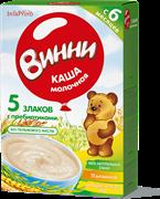 НТ-0467 Винни каша молочная 5-злаков 200 гр.