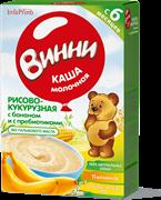 НТ-0469 Винни каша молочная рисово-кукурузная с бананом 200 гр.