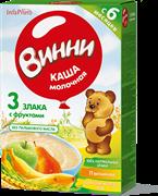 НТ-0486 Винни каша молочная из смеси 3 злаков банан груша яблоко 200 гр.