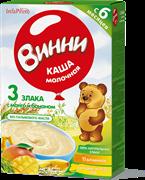 НТ-0487 Винни каша молочная из смеси 3 злаков манго с бананом 200 гр.