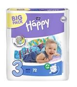BB-054-MU72-007 Подгузники для детей Bella Baby Happy MIDI 72