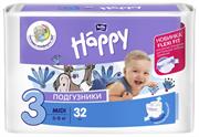 BB-054-MU32-008 Подгузники для детей марки Bella Baby Happy Midi 32 шт