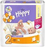 BB-054-MI78-009  Подгузники для детей марки Bella Baby Happy Mini 78 шт
